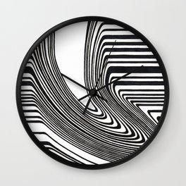 Spilled barcode Wall Clock