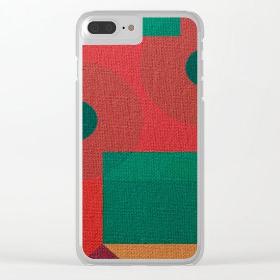 Geometric War Clear iPhone Case