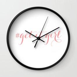 # Get It Girl // Peony Wall Clock