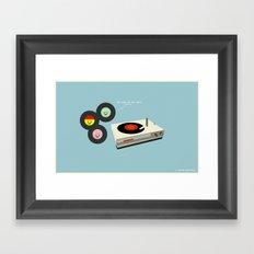 You Make My Art Spin Framed Art Print