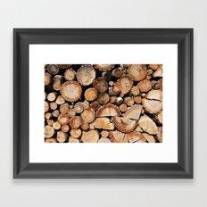 Logs stock Framed Art Print