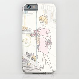 French Bulldogs and Paris Patisserie iPhone Case