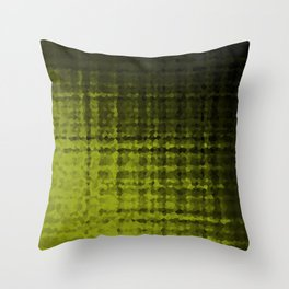 Black olive mosaic Throw Pillow