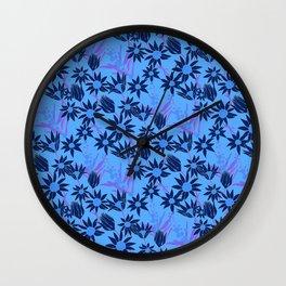 Flannel Flower Fields Wall Clock