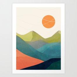 Minimalistic Landscape 17 Art Print