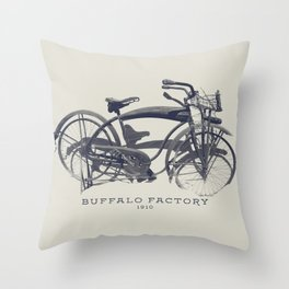 BUFFALO FACTORY Vintage Bicycle Throw Pillow