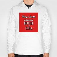 netflix Hoodies featuring Netflix Chill  by Rassva