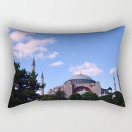 An Afternoon in Hagia Sophia (Aya Sofia, Istanbul) Rectangular Pillow