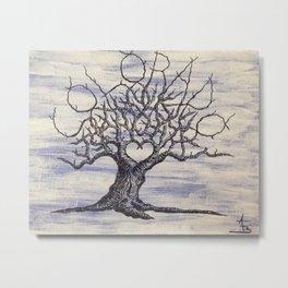 Colorado Love Tree Art Metal Print