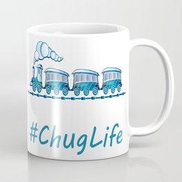 #ChugLife Blue Train Coffee Mug