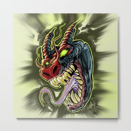 MONSTER demon Metal Print