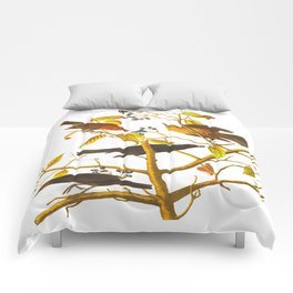 Rusty Grackle Bird Comforters