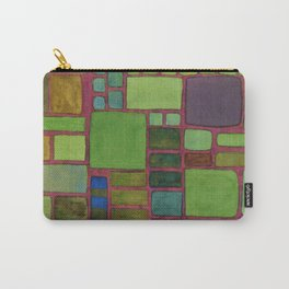 Collection of Rectangles with Blue Striped Staff Carry-All Pouch