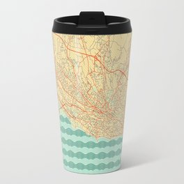 Lausanne Map Retro Travel Mug