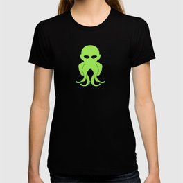 Lovecraftian Styled Octopus Logo - Green T-shirt