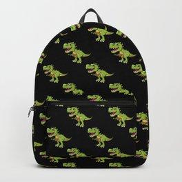 Dino Trex Ukulele Black Pattern Backpack