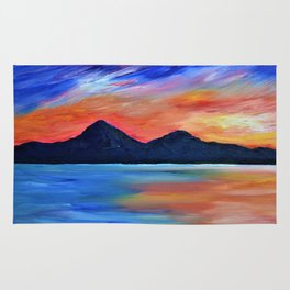 SUNSET AT MURLOUGH - Abstract Sky Oil Painting Rug