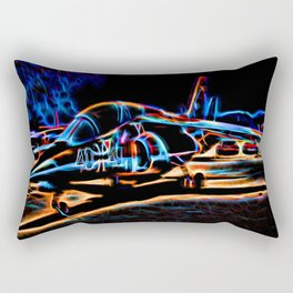 Neon Jet Rectangular Pillow