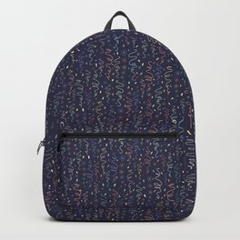 Dark Party Streamers Vector Pattern Backpack