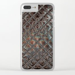 Iridescent Natural Stone Look Tile Pattern Clear iPhone Case
