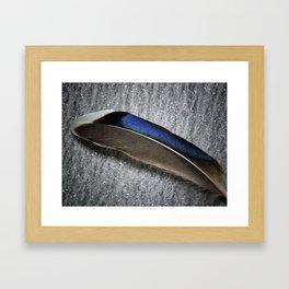 Glossy iridescence Framed Art Print