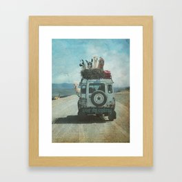 ALPACA WANDERLUST II SUMMER EDITION Framed Art Print