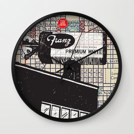 Franz Bakery sign, N.E. 12th and Flanders Street, You Are Here, Portland. Wall Clock