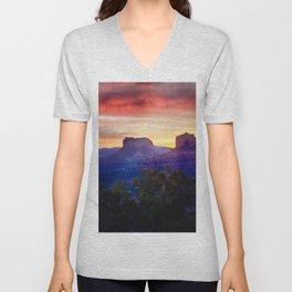 Sedona Sunrise Unisex V-Neck