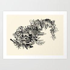 fished Art Print