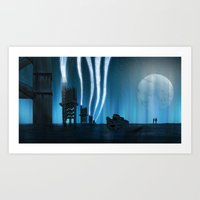 White Lights 02 Art Print