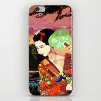 kitsune iPhone & iPod Skins featuring Kitsune by Sandpaperdaisy