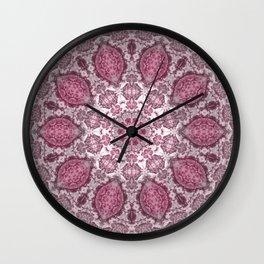 mandala purple Wall Clock