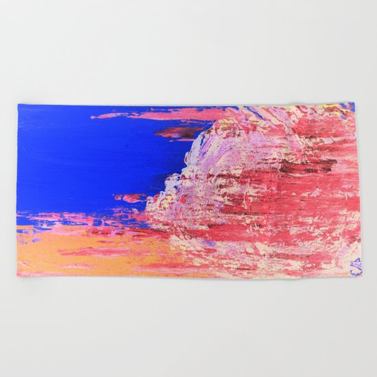 Into the Mist Pantone Color of the Year 2016 Abstract Beach Towel