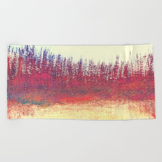 Maritime Lakeshore In Autumn Beach Towel