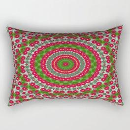 Red Bellis flower kaleidoscope Rectangular Pillow