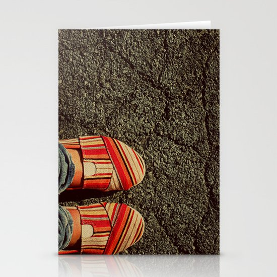 Shoes on Cement Stationery Cards