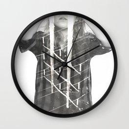 Scrap Shield Wall Clock