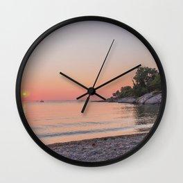 Plumcove Summer Sunset Wall Clock