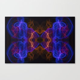 Abstract and symmetrical texture in the form of colorful smoke clouds. Canvas Print