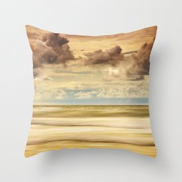 Stormy North Sea Throw Pillow