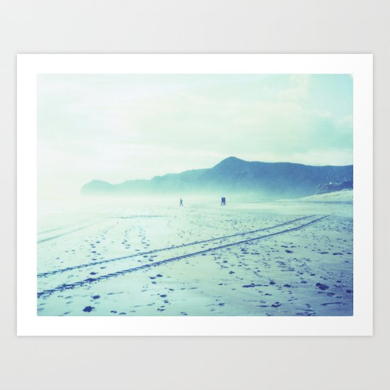 Piha Beach Art Print