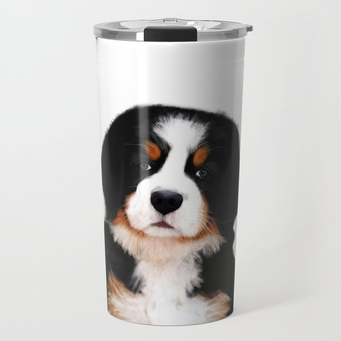 Bernese Mountain Dog Puppy Travel Mug