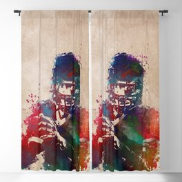 American football player 3 Blackout Curtain