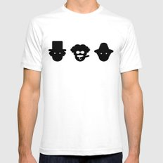 chico, harpo & groucho SMALL Mens Fitted Tee White
