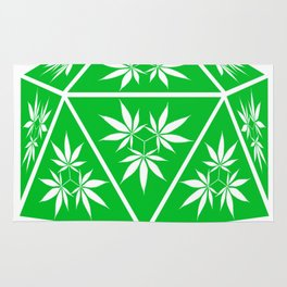 D20 Pot Leaf Crit Dice Rug