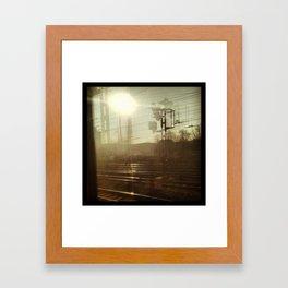 The train ride Framed Art Print