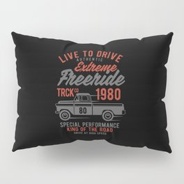 live to drive extreme freeride Pillow Sham