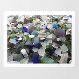 Sea Glass Assortment 5 Art Print
