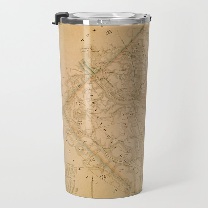 Civil War Washington D.C. Map Travel Mug