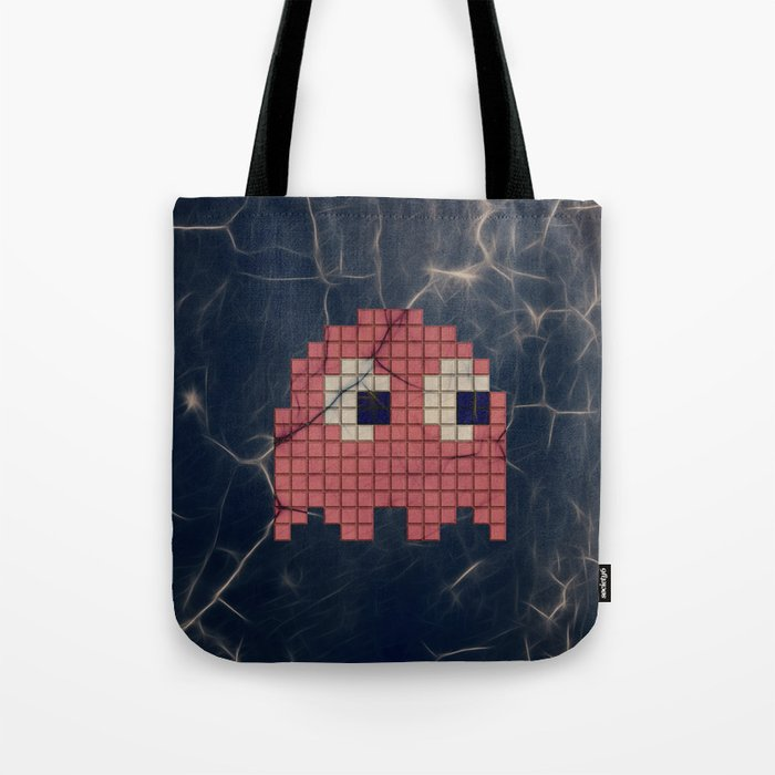 43d74d9f530f Pac-Man Pink Ghost Tote Bag by psocy